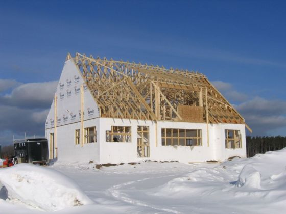 дървени сгради