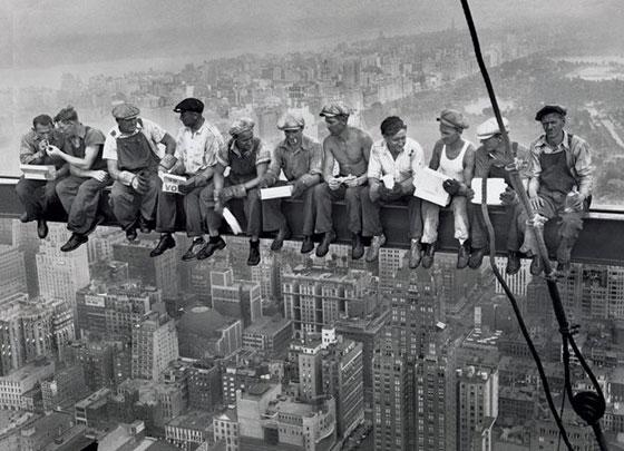 Обяд върху небостъргач