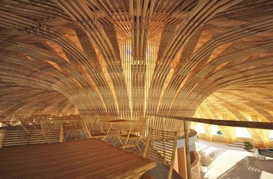 бамбукови сгради
